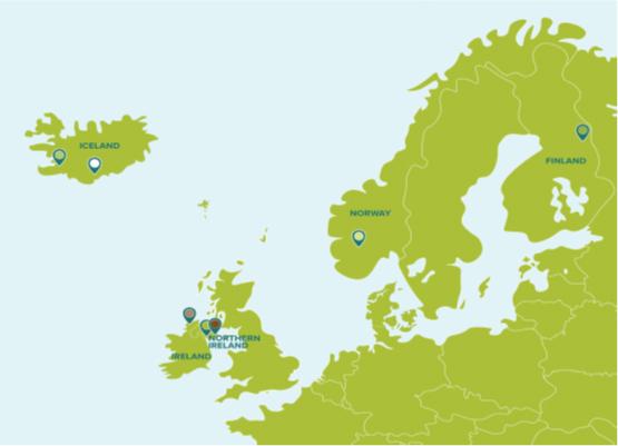 ASCENT-hankkeen kohteet kartalla