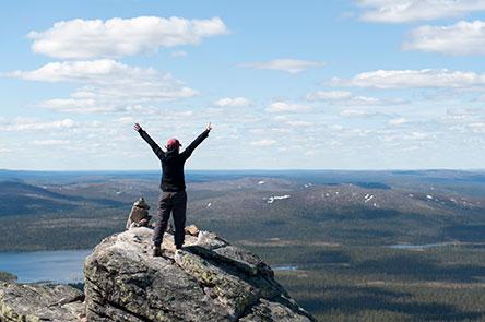 Sokostin huipulla. Kuva Vastavalo / Matti Koutonen.