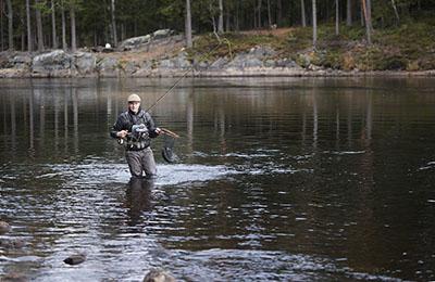 Kalassa Ruunaan retkeilyalueella. Kuva Kimmo Penttinen.