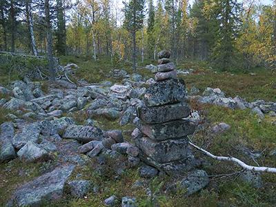 Ruijanpolun vanha kivimerkki.Kuva: Siiri Tolonen, Metsähallitus.