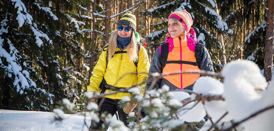 Talviretkellä Repovedellä. Kuva: Saara Lavi, Metsähallitus.