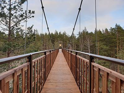 Lapinsalmen uusi silta Repoveden kansallispuistossa. Kuva: Meri-Hilkka Mäkelä, Metsähallitus.