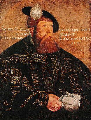 Porträttet av Gustav Vaasa målades av Jakob Bincks året1542. Källan: Wikipedia Commons.