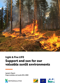 Picture of the cover of the Light and fire LIFE Project´s Layman´s report