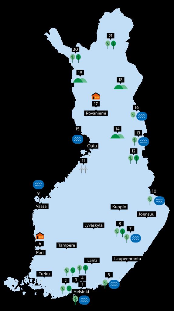 Hur mår du Finland karta